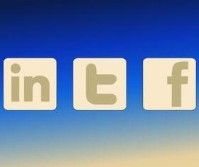 Social MediDecals vector