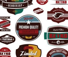 Retro Labels free vector material