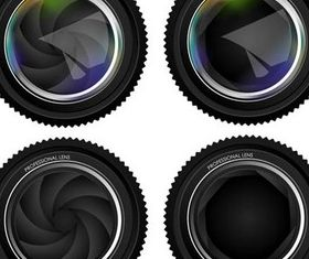 Different Lens Icons vector