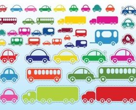 Car Bus Truck vector