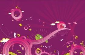 Crazy Purple Background Graphics vector graphics