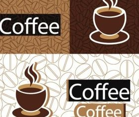 Coffee design elements background vector