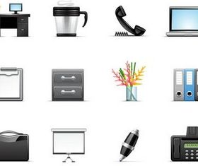 Office Icons free vector