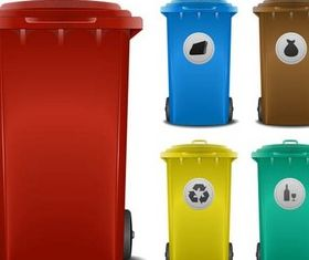 Trash Cans graphic vector
