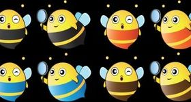 Cartoon cute bee vector graphics