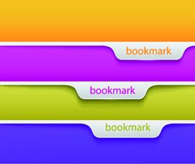 Colored bookmark vector