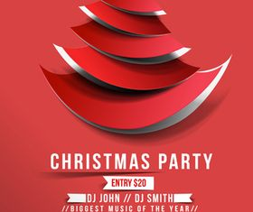 Christmas Party poster 1 design vectors