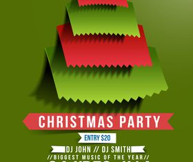 Christmas Party poster 2 design vector