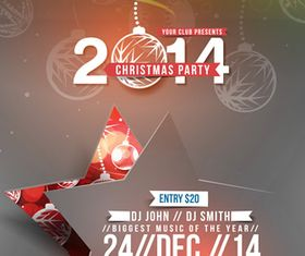 Christmas Party poster 3 design vector