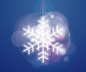 Dream snowflake background vector