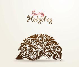 Floral Hedgehog vector