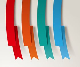 Colored paper strip vector