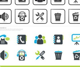 Web creative icons vector