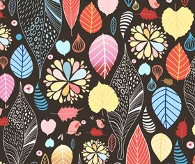 Line autumn pattern background 3 vectors