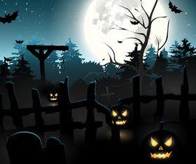 Halloween night background 1 vector