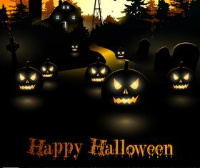 Halloween night background 2 vector