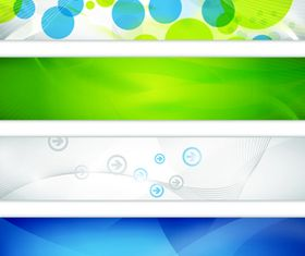 Concise banner design vector