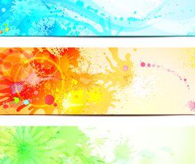 Splash Grunge Color banner vector