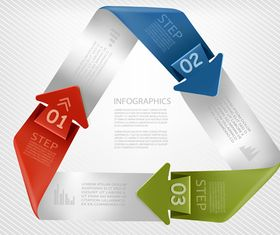 Number Origami Infographics 2 vectors material