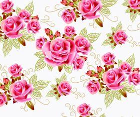 Beautiful rose pattern vector
