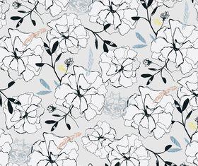 Draw flower pattern vector