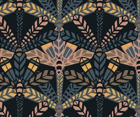 Feather pattern vector