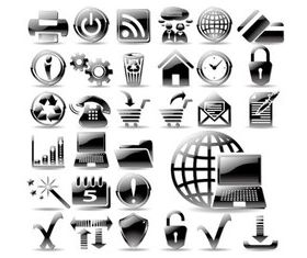 Black Society icons vector
