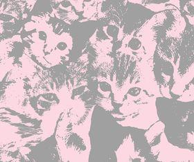 Cat pattern vector