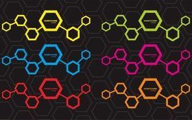 Colored Honeycomb background vectors graphic