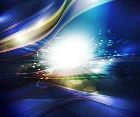 Blue light wave background vectors