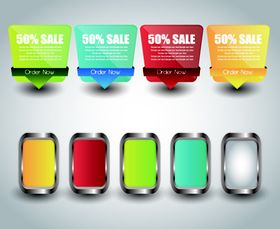 colored sale labels 1 vectors