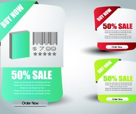 colored sale labels 2 vectors