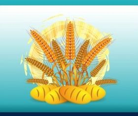 Wheat Logo shiny vector