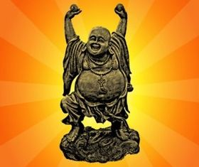 Dancing Buddha vector
