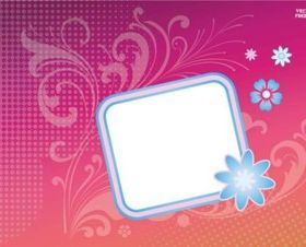 Flower Badge Sticker vector