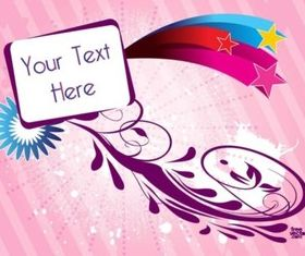 Text Badge Scroll design vectors