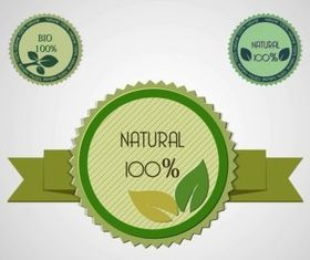 Natural Product Labels creative vector