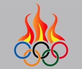 Olympic Fire design vectors