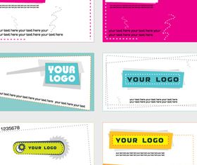 Simple Business card vector graphics