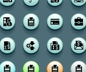 3D Social Icons 3 vector