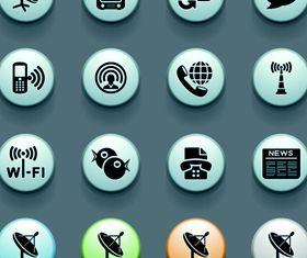 3D Social Icons 5 vector