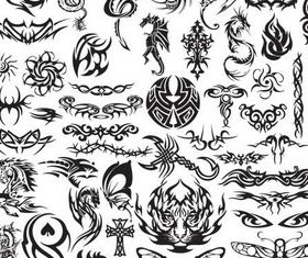 Stylish Tatoo free vector