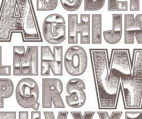 Grunge Alphabets vectors