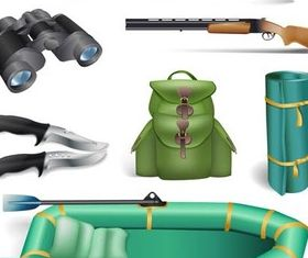 Hunting and Fishing vector design