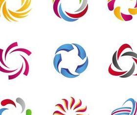 Creative Abstract Logotypes art vectors material