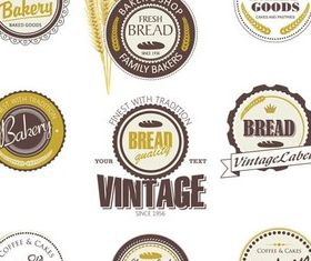 Bakery Labels vector