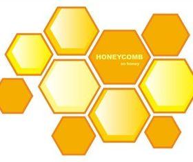 Yellow honeycomb background vector