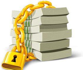 Golden locks and paper money vector