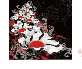 Watercolor flower background vectors graphic