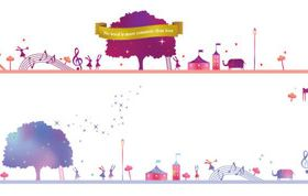 Cartoon Playground creative design 1 vectors